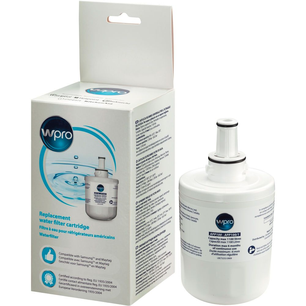 Internal water filter cartridge