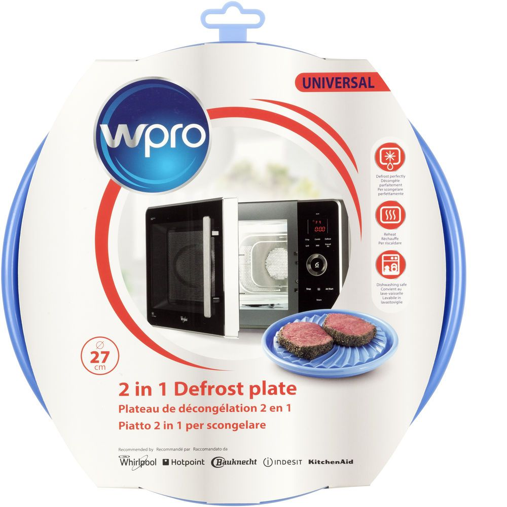 Defrost plate for microwaves