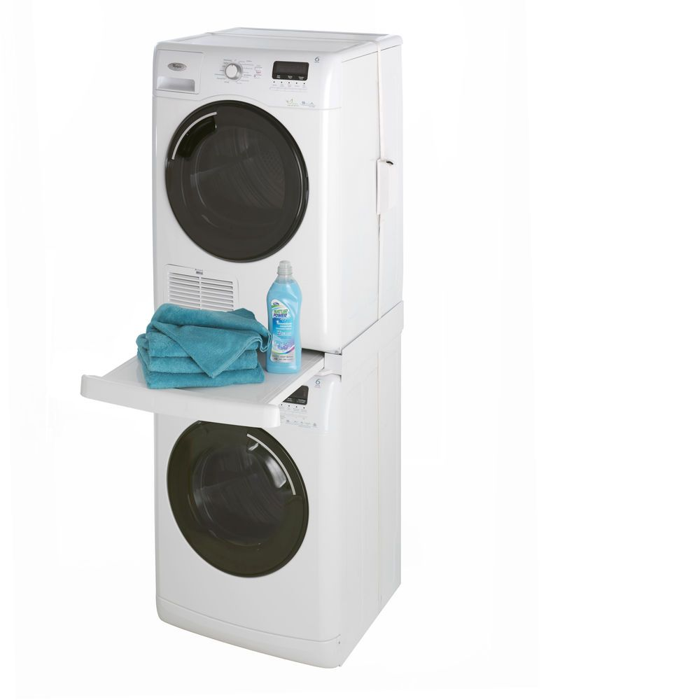Universal stacking kit for washing machines and tumble - Superposer machine a laver et seche linge ...