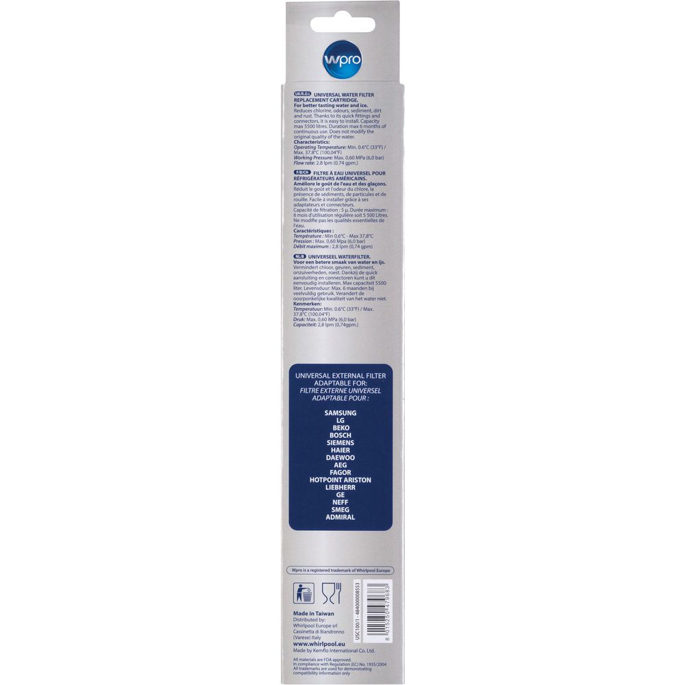 Waterfilter Water Filter In Line Us Fridges Refill Cartridge Usc100 Usc100 1