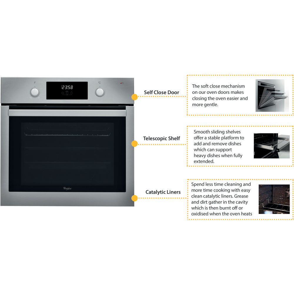 Whirlpool Absolute Akp 7460 Ix Built In Oven In Stainless Steel