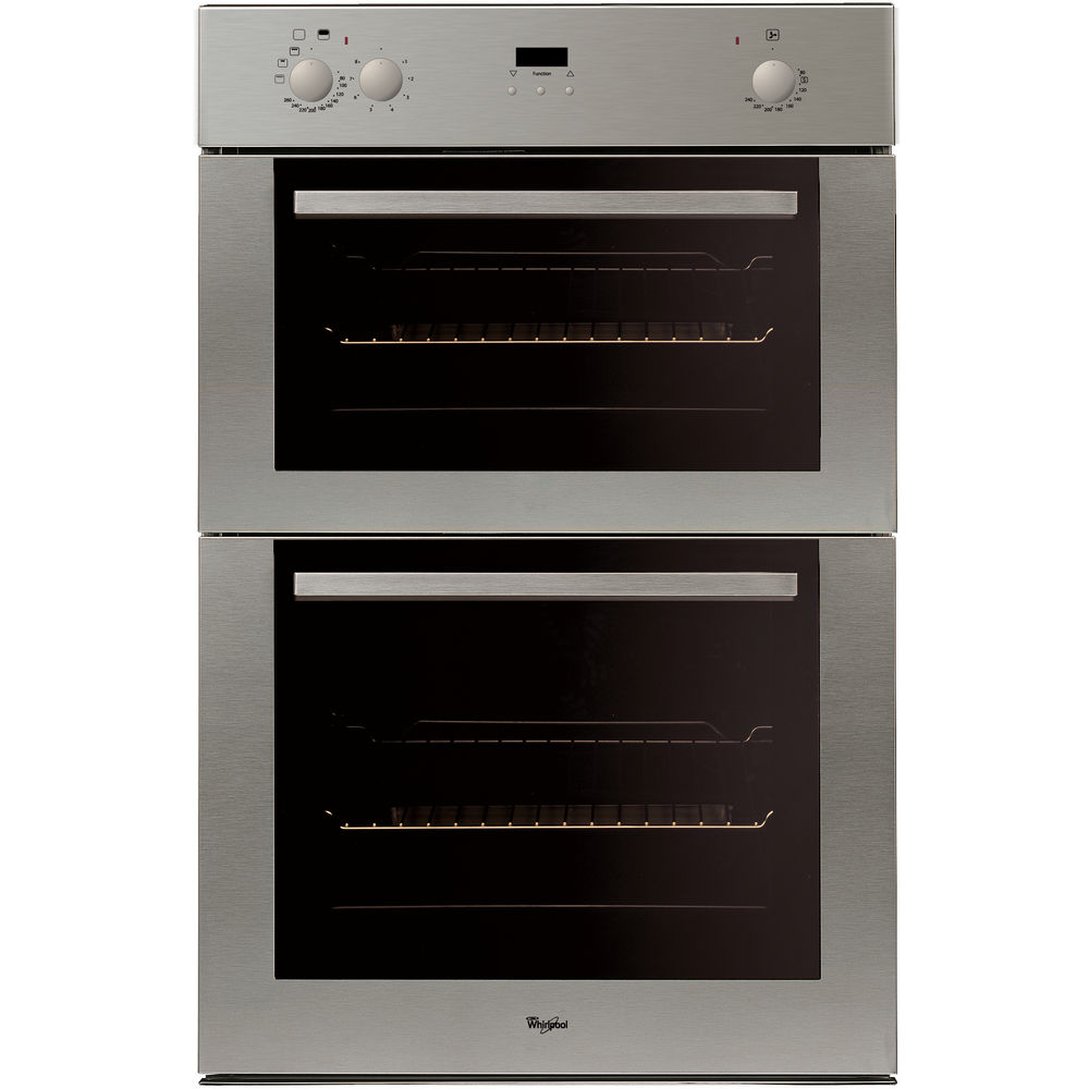 whirlpool builtin double oven in stainless steel akw 601 ix