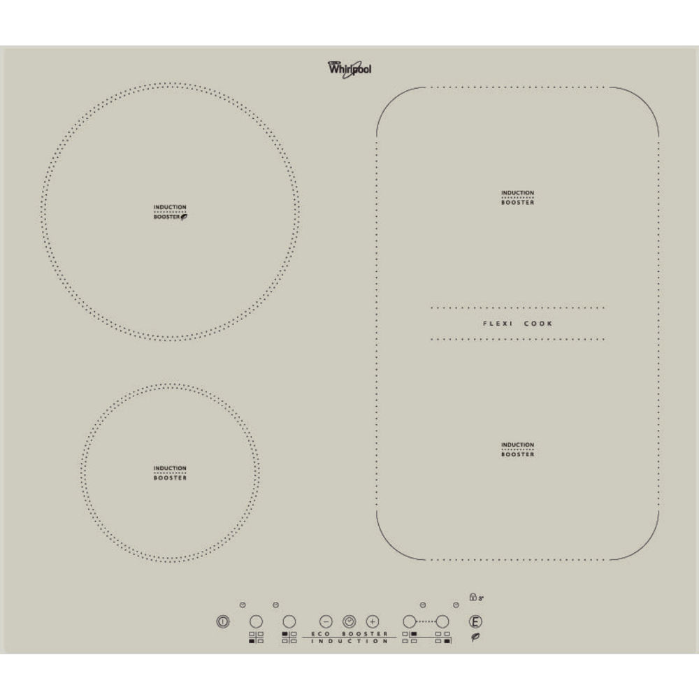 Whirlpool ACM 808/BA/S Built-In Induction Hob in Silver Dawn