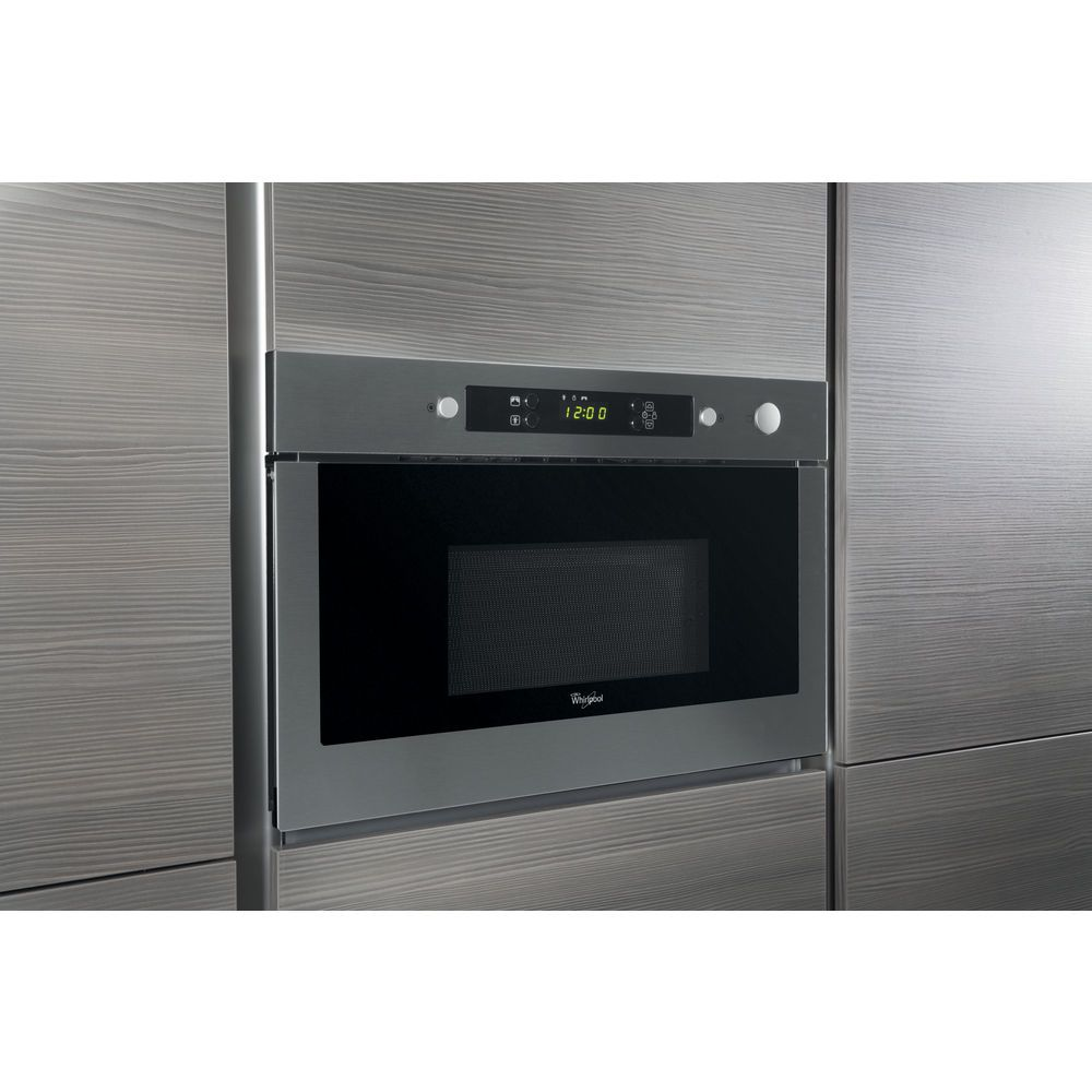 whirlpool absolute amw 423 ix built in microwave in stainless steel whirlpool uk. Black Bedroom Furniture Sets. Home Design Ideas