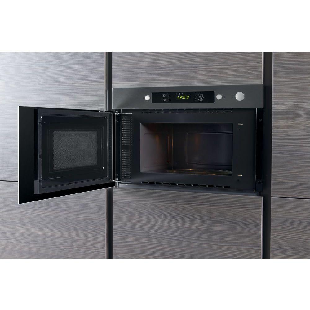 whirlpool absolute amw 423 ix built in microwave in stainless steel whirlpool uk. Black Bedroom Furniture Sets. Home Design Ideas