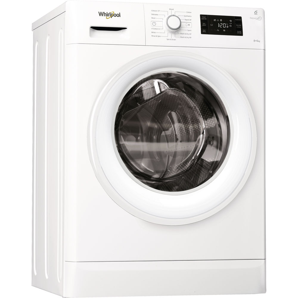 0bfd422f1cd9 Whirlpool FWDG86148W Washer Dryer in White - Whirlpool UK