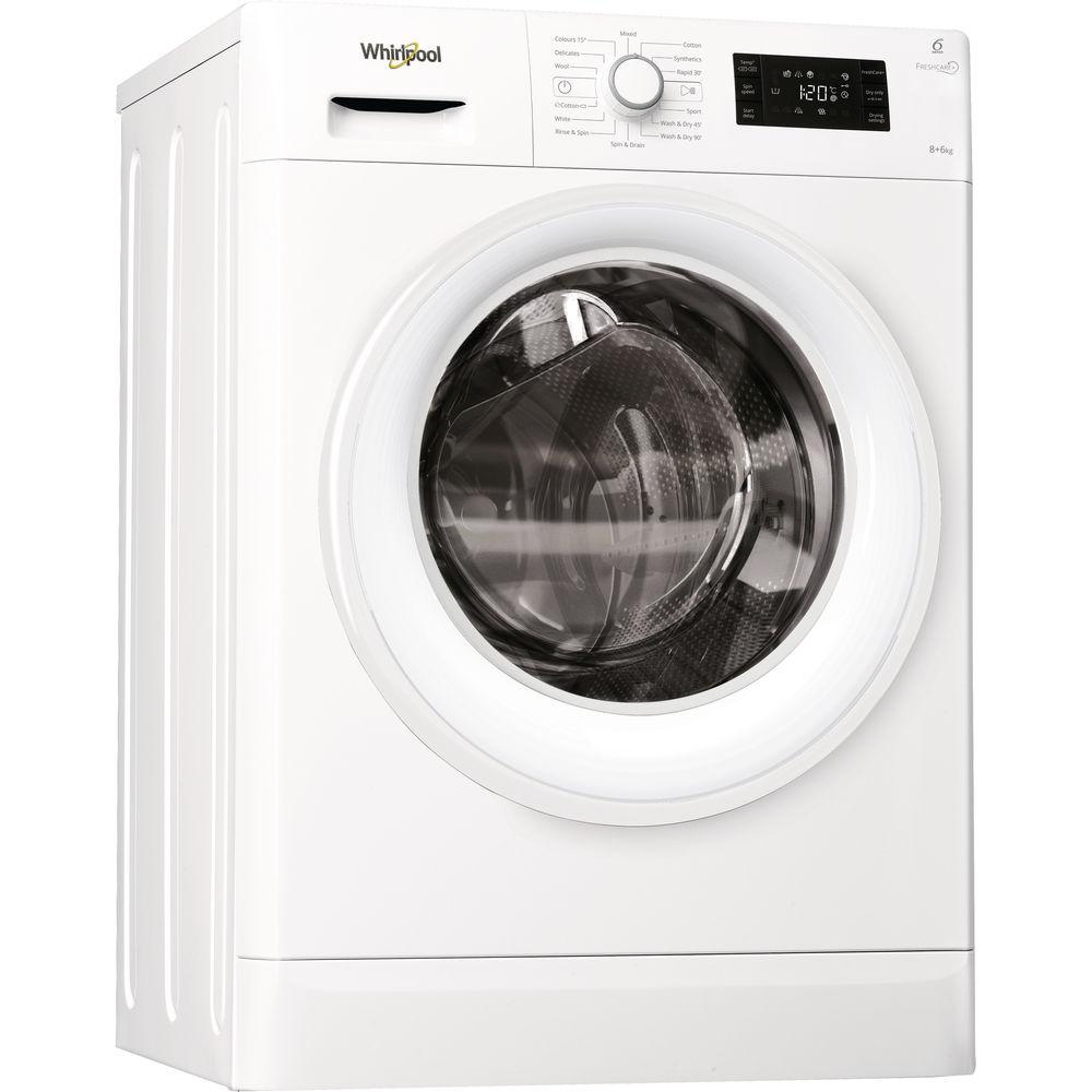 Whirlpool FWDG86148W Washer Dryer in White