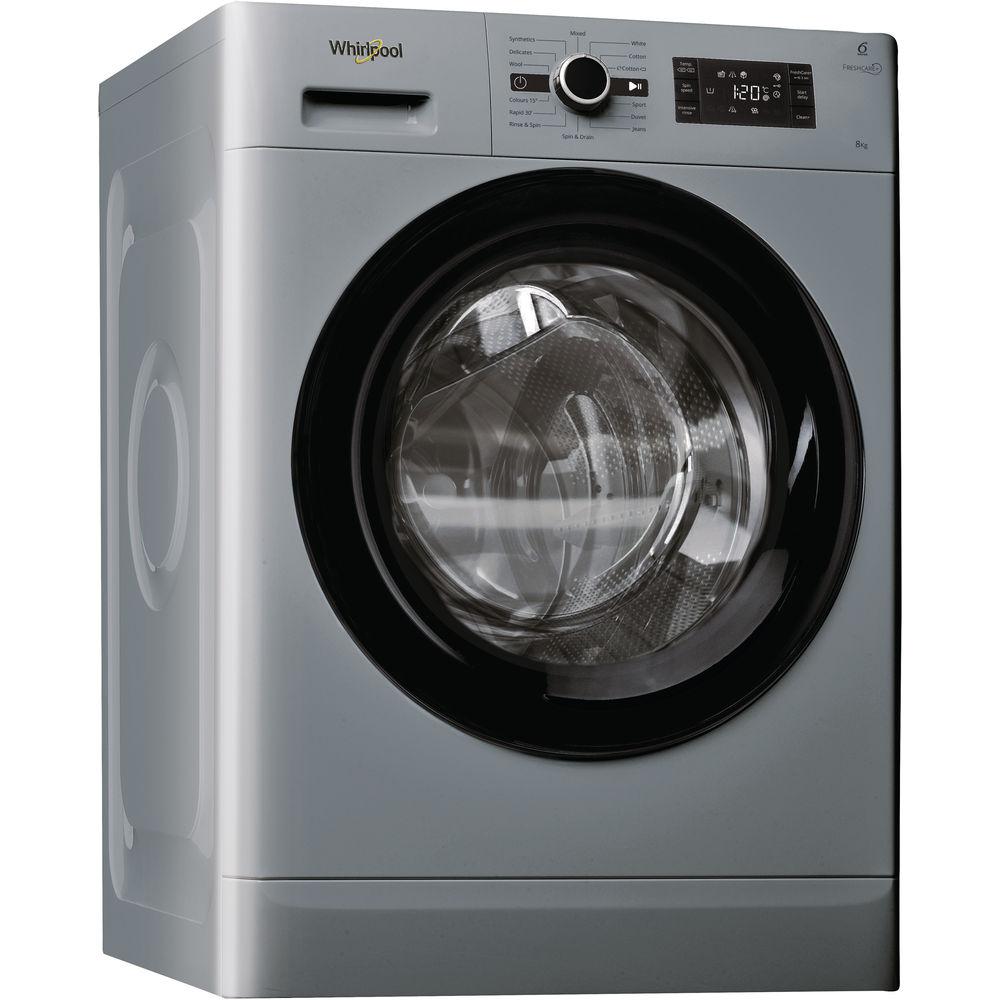 Whirlpool FreshCare+ FWG81496 S Washing Machine in Silver - Whirlpool UK