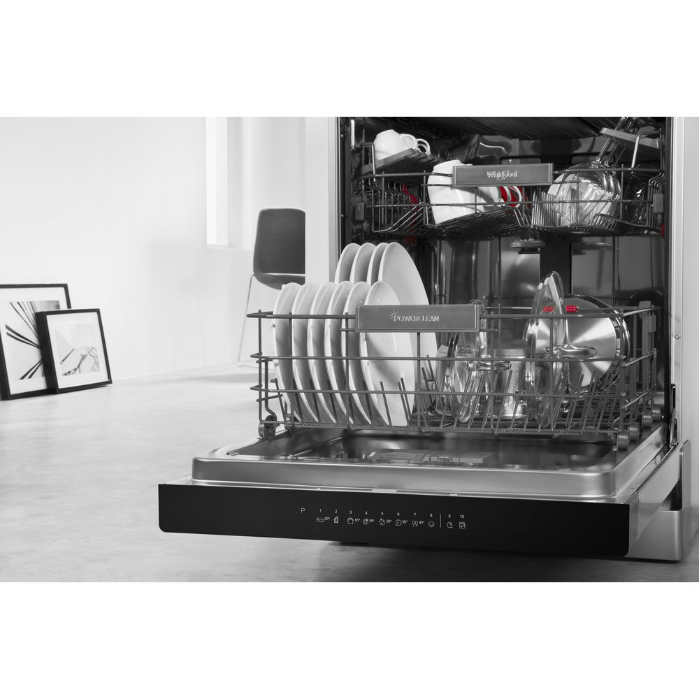 Small Dish Washer Whirlpool Supreme Clean Dishwasher In Stainless Steel Wfo 3p33 Dl