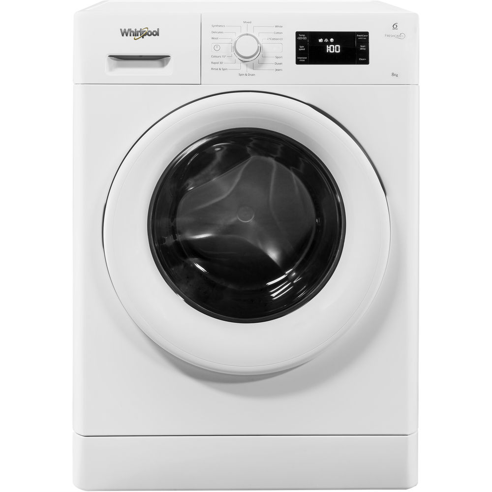 Whirlpool FreshCare FWG81496W Washing Machine in White ...