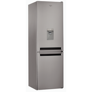Whirlpool Fridge Freezer in Optic Inox - BSNF 8451 OX AQUA