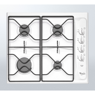 4 Burner Gas Hob in White AKM 260/WH