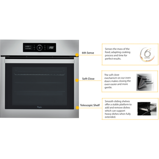 Whirlpool Absolute Built-In Oven in Stainless Steel AKZ 6220 IX