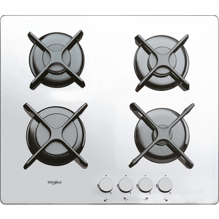 4 Burner Gas on Glass Hob in White GOR 6414/WH