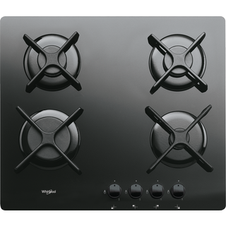 4 Burner Gas on Glass Hob in Black GOR 6414/NB