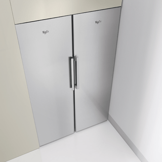 Whirlpool SW8 AM2C XR Fridge in Optic Inox 5