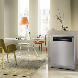 Whirlpool SupremeClean ADP 502 IX Dishwasher in Stainless Steel 2