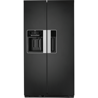 Black Total No Frost Nova Side-by-Side American Fridge-Freezer WSN5583 A+ N