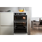 Whirlpool AKL 309 IX Built-in Double Oven in Inox and Black
