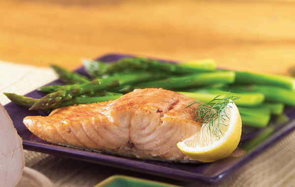 Recipe Fillet of salmon, asparagus & orange vinaigrette ...